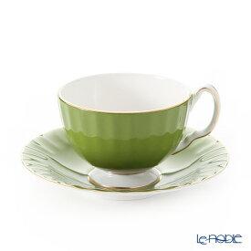 エインズレイ コテージガーデン #2973 ティーカップ&ソーサー(オーバン) ミルグリーン 180ml おしゃれ かわいい 食器 ブランド 結婚祝い 内祝い