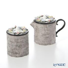 【ポイント19倍】エインズレイ イギリスの家ティーポット チャリスの井戸 クリーマー 150ml&シュガー 150ml セット 食器セット お祝い 結婚祝い ブランド 内祝い