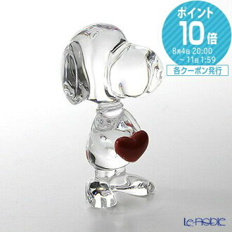 Baccarat Baccarat cartoon 2-613-001 Snoopy heart wedding gift 内祝i gifts gifts gifts