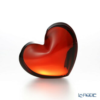 2-103-967 zinzan Baccarat Baccarat heart red L 7 cm