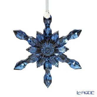 Baccarat Baccarat art 2-810-281 ornament snowflake metallic blue