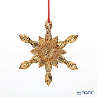 Baccarat (Baccarat) art object 2-811-191 ornament snowflake gold 2017 crystal Christmas art object