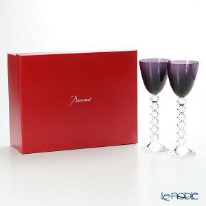 バカラ (Baccarat) ベガ 2-812-269(2-100-595) ラインワイン パープル 22.8cm ペア お祝い ギフト グラス ワイングラス 兼用 食器 ブランド 結婚祝い 内祝い