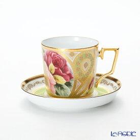 ノリタケ オマージュコレクション コーヒー碗皿(若草色絵薔薇文) T2402/H-770 コーヒ—カップ おしゃれ かわいい 食器 ブランド 結婚祝い 内祝い