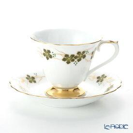 【ポイント19倍】大倉陶園 100周年カウントダウン碗皿シリーズ第3弾 コーヒー碗皿 上絵色盛野葡萄 46C/E203 コーヒ—カップ おしゃれ かわいい 食器 ブランド 結婚祝い 内祝い
