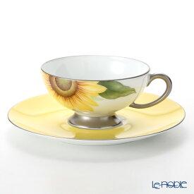 大倉陶園 碗皿暦 103C/E218 カップ&ソーサー 8月・向日葵 コーヒ—カップ おしゃれ かわいい 食器 ブランド 結婚祝い 内祝い