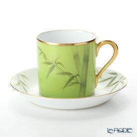 【ポイント19倍】大倉陶園 碗皿暦 85C/E217 カップ&ソーサー 7月・若竹 コーヒ—カップ おしゃれ かわいい 食器 ブランド 結婚祝い 内祝い