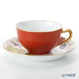 【ポイント19倍】大倉陶園 碗皿暦 1C/E221 カップ&ソーサー 11月・山葡萄と駒鳥 コーヒ—カップ おしゃれ かわいい 食器 ブランド 結婚祝い 内祝い