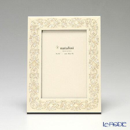 ナタリーニ 象嵌フォトフレーム 10×15cm MARRAKECH ホワイト【楽ギフ_包装選択】【楽ギフ_のし宛書】