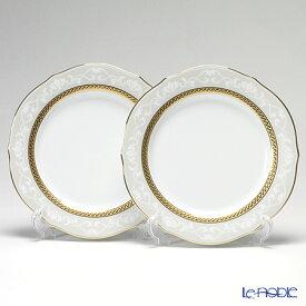 ノリタケ ファインポーセレン ハンプシャーゴールド 23cm アクセントプレート ペア P91310/4335 皿 お皿 食器 ブランド 結婚祝い 内祝い
