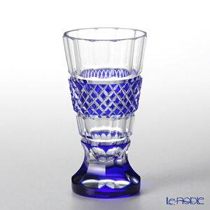 創作薩摩切子 紗綾 高杯 瑠璃 2039-4-L グラス ショットグラス ぐい呑み ギフト 食器 ブランド 結婚祝い 内祝い