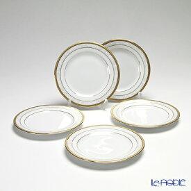 【クーポン】ノリタケ ファインポーセレン ハンプシャーゴールド 16cm パン皿 5枚セット F91312/4335 食器セット お祝い 結婚祝い ブランド 内祝い