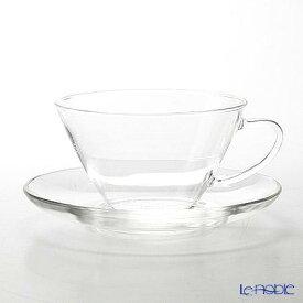 ハリオ 耐熱カップ&ソーサー・ワイド CSW-1T 230ml ティーカップ おしゃれ かわいい 食器 ブランド 結婚祝い 内祝い
