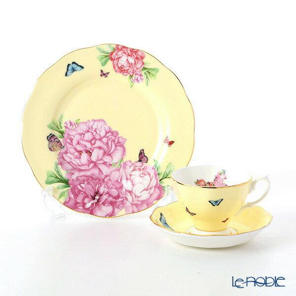 ロイヤル・アルバート ミランダ・カー ジョイ ティーカップ&ソーサー & プレート 20cm(イエロー) ロイヤルアルバート Royal Albert ミランダ・カー コレクション 食器セット お祝い 結婚祝い ブランド 内祝い