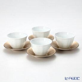 【ポイント10倍】ノリタケ シェール ブラン 4人用 日本茶セット cher blanc シェール ブラン 食器セット お祝い 結婚祝い ブランド 内祝い