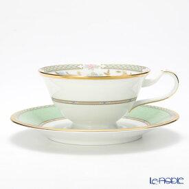 ノリタケ ヨシノ Y59587/9983 ティー・コーヒー兼用 碗皿 グリーン ティーカップ おしゃれ かわいい 食器 ブランド 結婚祝い 内祝い