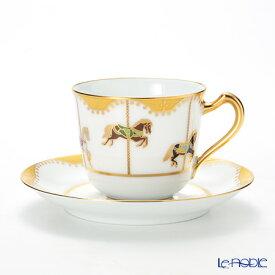 【ポイント19倍】大倉陶園 うまくゆく 回転木馬 コーヒーカップ&ソーサー 57C/1901 コーヒ—カップ おしゃれ かわいい 食器 ブランド 結婚祝い 内祝い