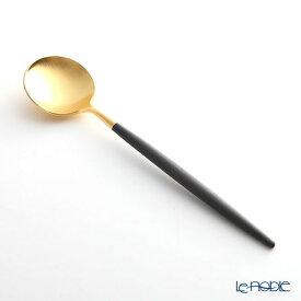 クチポール ゴア GOA ブラック/ゴールド デザートスプーン 18cm マット仕上げ Cutipol カトラリー 北欧 おしゃれ 食器 ブランド 結婚祝い 内祝い