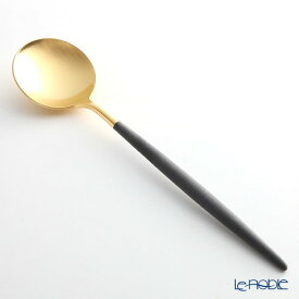 クチポール ゴア GOA ブラック/ゴールド テーブルスプーン 21cm マット仕上げ Cutipol カトラリー 北欧 カレー おしゃれ 食器 ブランド 結婚祝い 内祝い