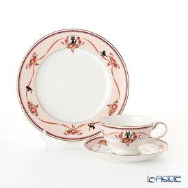 ノリタケ 魔女の宅急便 ピンク(H-612L) トリオ セット 21cmプレート(MJ97211)& ティー・コーヒー碗皿(MJ97221) ジブリ 食器セット お祝い 結婚祝い ブランド 内祝い