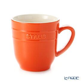 【ポイント5倍】ストウブ(staub) マグカップ(セラミック製) 350ml オレンジ 鍋 新生活 結婚祝い おしゃれ かわいい 食器 ブランド 内祝い