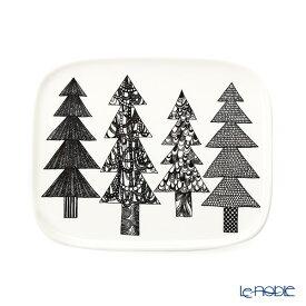 マリメッコ(marimekko) Kuusikossa クーシコッサ/トウヒの森 プレート 12.5×15.5cm 070032-190 19AW 北欧 食器 皿 お皿 ブランド 結婚祝い 内祝い