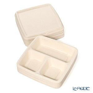 サバート エコプレート 9×9 MP48090D300 & MP51901F300 ディープトレイ 3コンボ フタ付 15個入 パルプ モザイク プラスチック 使い捨て パーティー キッチン 用品 雑貨 調理