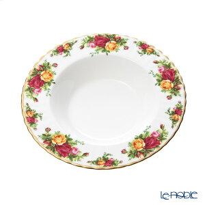 ロイヤル・アルバート オールドカントリーローズ リム スープ皿(L) 24cm ロイヤルアルバート Royal Albert 深皿 カレー パスタ プレート お皿 食器 ブランド 結婚祝い 内祝い