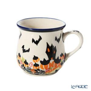 ポーリッシュポタリー(ポーランド陶器) ボレスワヴィエツ マグカップ 250ml/8.6cm パンプキン ハロウィン 1599/DU-OK124 ポーランド食器 北欧 おしゃれ かわいい ブランド 結婚祝い 内祝い
