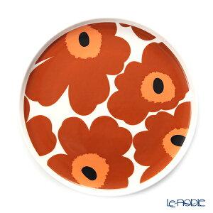 マリメッコ(marimekko) Unikko ウニッコ プレート 20cm(ホワイト×ブラウン×ブラック) 070399-189/20AW 北欧 食器 皿 お皿 ブランド 結婚祝い 内祝い