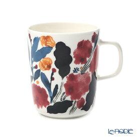 マリメッコ(marimekko)hyhma ヒュフマ/冬の花 マグカップ 250ml (ホワイト×ブルー×レッド) 070608-153/20AW 北欧 食器 おしゃれ かわいい ブランド 結婚祝い 内祝い