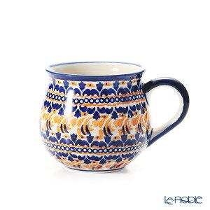 【ポイント10倍】ポーリッシュポタリー(ポーランド陶器) ボレスワヴィエツ マグカップ 220ml/8cm 1452/DU-225 ポーランド食器 北欧 おしゃれ かわいい ブランド 結婚祝い 内祝い