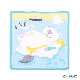 フェイラー ハンドタオル ベア&フレンズ レイジーベア ライトブルー 25×25cm プチギフト ハンカチ