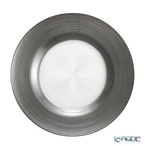 Vetro Felice ヴェトロ フェリーチェ サークル プレート 27cm グレー 32927J ガラス おしゃれ 皿 お皿 食器 ブランド 結婚祝い 内祝い