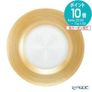 Vetro Felice ヴェトロ フェリーチェ サークル プレート 27cm ゴールド 32927J ガラス おしゃれ 皿 お皿 食器 ブランド 結婚祝い 内祝い