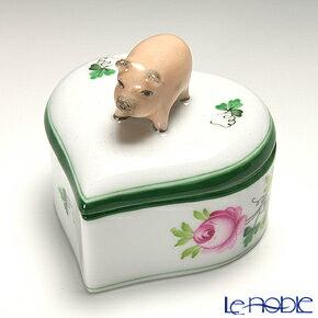 ヘレンド(HEREND) ウィーンのバラ 06111-0-72 ハートボックス(ブタ)【楽ギフ_包装選択】【楽ギフ_のし宛書】 ウィーンのバラ(VRH)