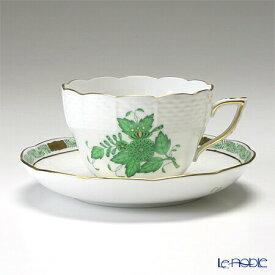 ヘレンド(HEREND) アポニーグリーン 00730-0-00/730 ティーカップ&ソーサー(兼用) 200cc おしゃれ かわいい 食器 ブランド 結婚祝い 内祝い
