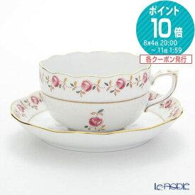ヘレンド(HEREND) 薔薇の花飾り RGS 00724-0-00 ティーカップ&ソーサー 200cc おしゃれ かわいい 食器 ブランド 結婚祝い 内祝い