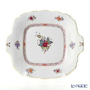 ヘレンド(HEREND) アポニーフラワー 00431-0-00 四角ケーキ皿 28×25cm プレート お皿 食器 ブランド 結婚祝い 内祝い