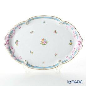 【ポイント10倍】ヘレンド(HEREND) ローズチューリップ ブルー RTFB 20400-0-00 パーティートレイ 38cm プレート 皿 お皿 食器 ブランド 結婚祝い 内祝い