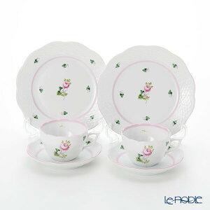 【ポイント10倍】ヘレンド(HEREND) ウィーンのバラ ピンク トリオセット ペア(兼用) 食器セット お祝い 結婚祝い ブランド 内祝い