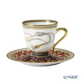 【ポイント14倍】エルメス (HERMES) シュヴァルドリアン コーヒーカップ&ソーサー 110ml コーヒ—カップ おしゃれ かわいい 食器 ブランド 結婚祝い 内祝い