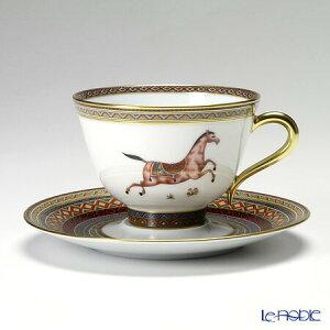エルメス (HERMES) シュヴァルドリアン ティーカップ&ソーサー 230ml No.3 ソーサー赤 おしゃれ かわいい 食器 ブランド 結婚祝い 内祝い
