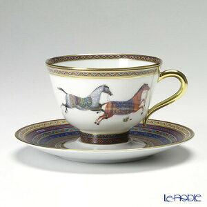 エルメス (HERMES) シュヴァルドリアン ティーカップ&ソーサー 230ml No.4 ソーサー青 おしゃれ かわいい 食器 ブランド 結婚祝い 内祝い