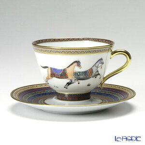 エルメス (HERMES) シュヴァルドリアン ティーカップ&ソーサー 230ml No.5 ソーサー青 おしゃれ かわいい 食器 ブランド 結婚祝い 内祝い