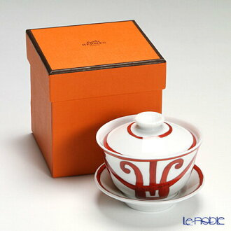 Hermes (HERMES) Guadalquivir collection Asiatic Teacup with lid and saucer 130 ml