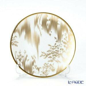 【ポイント10倍】エルメス (HERMES) ヴォヤージュ アン イカット パンプレート 14cm ゴールド 皿 お皿 食器 ブランド 結婚祝い 内祝い