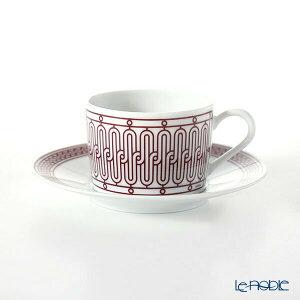 【ポイント5倍】エルメス (HERMES) H Deco Rouge アッシュデコ ルージュ ティーカップ&ソーサー 160ml おしゃれ かわいい 食器 ブランド 結婚祝い 内祝い