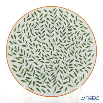 Hermes (HERMES) walk in the garden dinner plate 27cm green plate tableware fashion brand