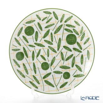 Hermes (HERMES) walk in the garden dessert plate 21cm green plate tableware fashion brand